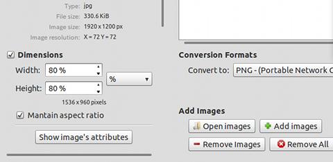 Converseen Ubuntu PPA 画像変換 リサイズの指定