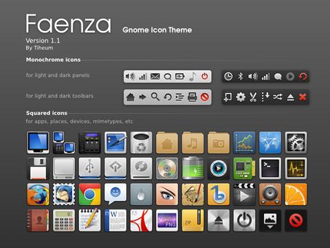 Faenza Icons Ubuntu アイコンテーマ