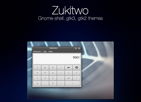 Zukitwo Ubuntu デスクトップテーマ