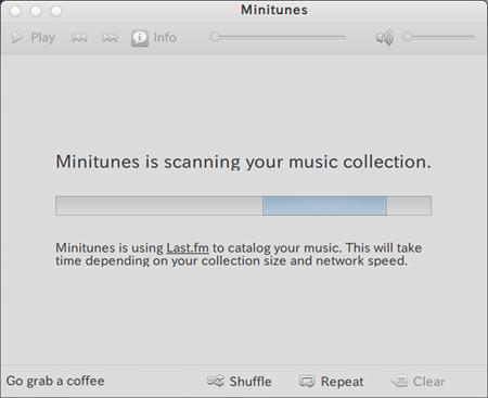 Minitunes Ubuntu 音楽プレイヤー アルバムアートの表示