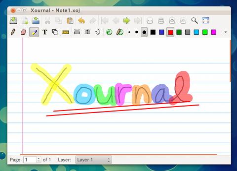 Xournal Ubuntu ペイントソフト
