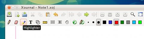 Xournal Ubuntu ペイントソフト 描画ツールを選択