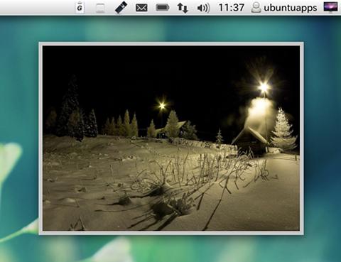 Gnome Photo Frame Ubuntu ガジェット フォトフレーム