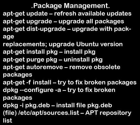 Ubuntu Noob Command Guide 壁紙 コマンド パッケージ管理