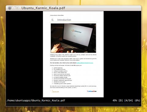zathura Ubuntu PDFビューア 軽い