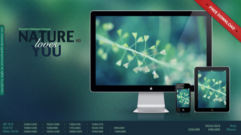 Ubuntu 壁紙 Nature loves you WallpaperPack