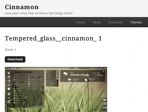 Cinnamon Ubuntu テーマ Tempered_glass_cinnamon_1