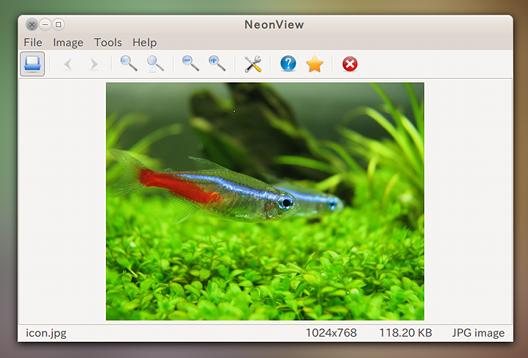 NeonView Ubuntu 画像ビューア