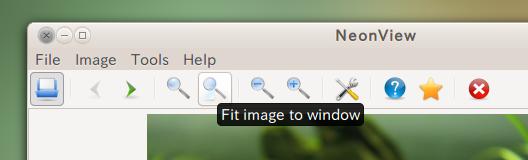 NeonView Ubuntu 画像ビューア ツールバーの使い方