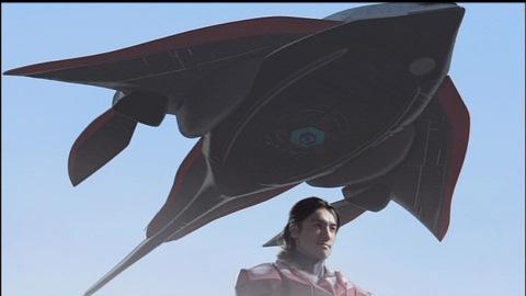 ボスタング型の宇宙船で現れたキール星人グランデ