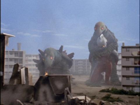 ミニトータスを背負い、ウルトラの星へ飛び立つウルトラセブン