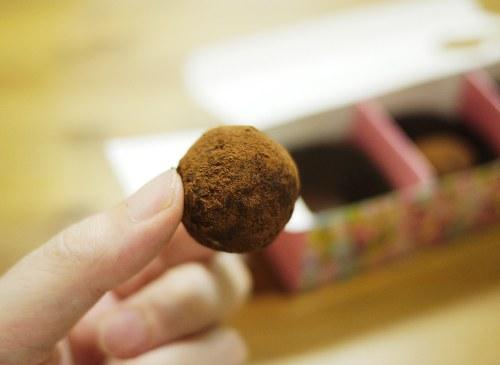 「すみれファンファーレ」の簡単トリュフ風チョコ
