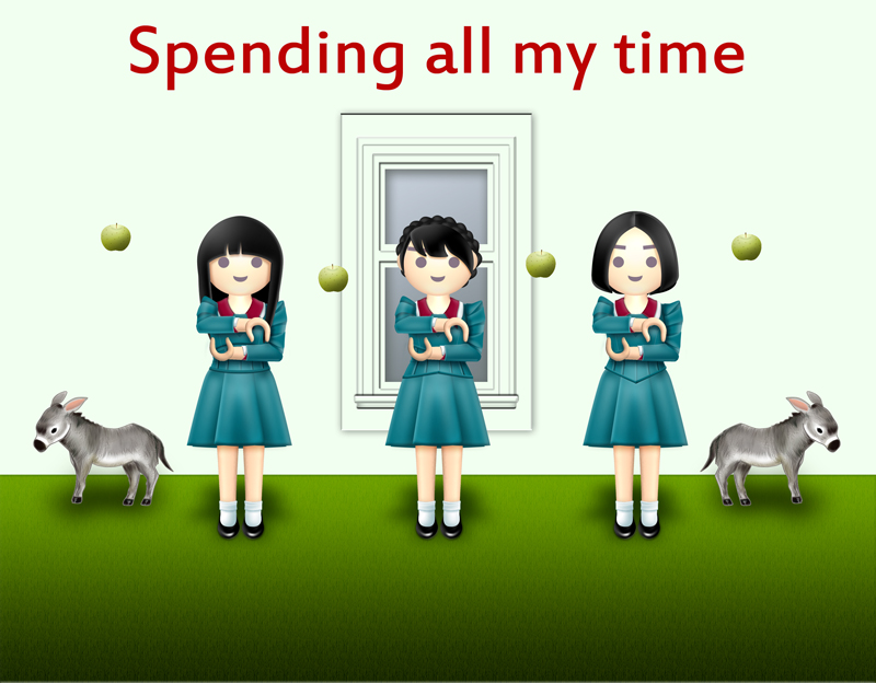 Perfume イラスト『Spending all my time』