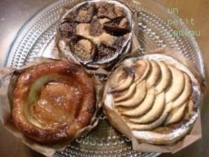 ブーランジェリーCALVAのアップルパイ&イチジクのパイ&タルトタタン