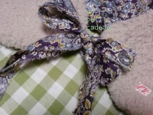 リバティTatum ×ボア生地 ティペット 裂き布リボン