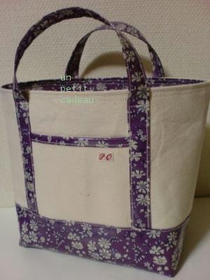 リバティCapel ビニコ生地×帆布のトートバッグ