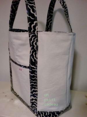 C&S 国内限定リバティPuff ×帆布のトートバッグ