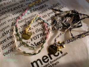 merci リバティメダルブレスレット、ミナペルホネン メダルブレスレット