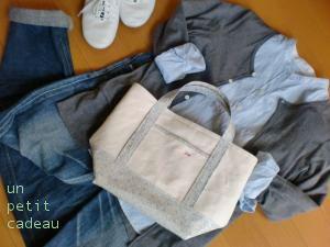 C&S 限定リバティ Eloise ビニコ生地×帆布のトートバッグとポーチ