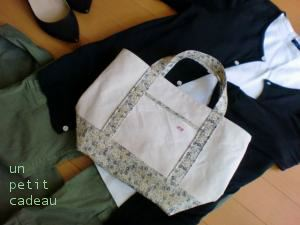C&S 限定リバティ Eloise ビニコ生地 × 帆布 トートバッグとビニコポーチ