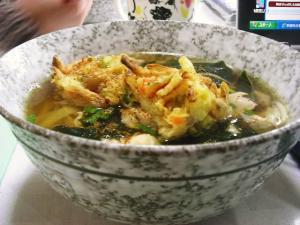 天ぷら&鶏うどん