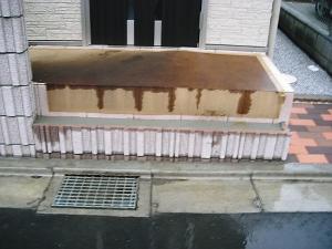 2010年11月17日外溝工事6玄関ポーチ1