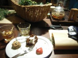 クリスマスリースお茶菓子も♥
