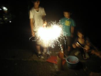3家族で花火