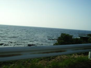 浜辺を後に