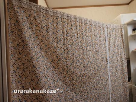 洗面所目隠しカーテン