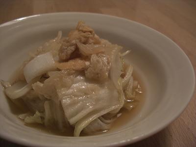 白菜とうすあげのさっと煮