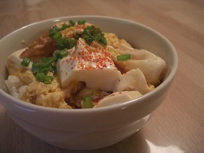 豆腐たまご丼