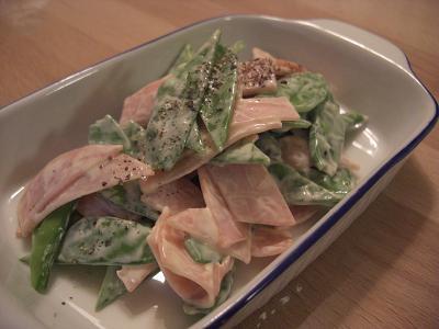 えんどう豆とハムのマヨネーズサラダ