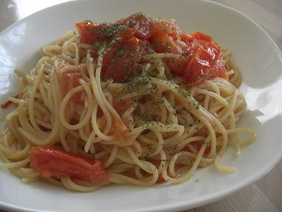 トマトだけペペロンチーノ