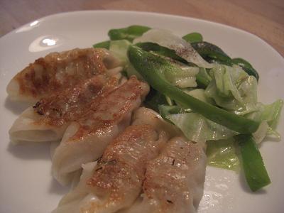 餃子&野菜