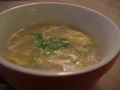 白菜とたまごのとろーり中華スープ