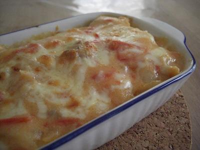 トマトクリームドリア
