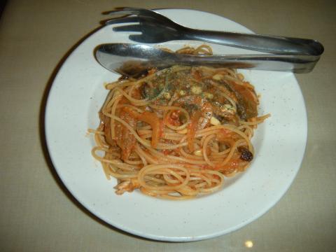 イワシのシチリア風スパゲティ