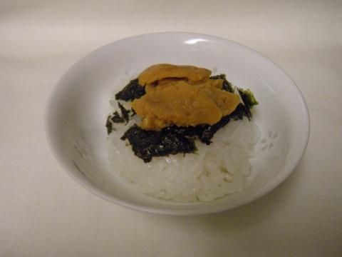 うにの西京漬けのっけご飯~贅沢・・・