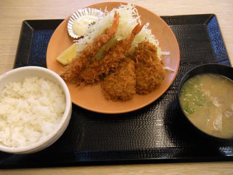 エビ・ヒレカツ定食787円