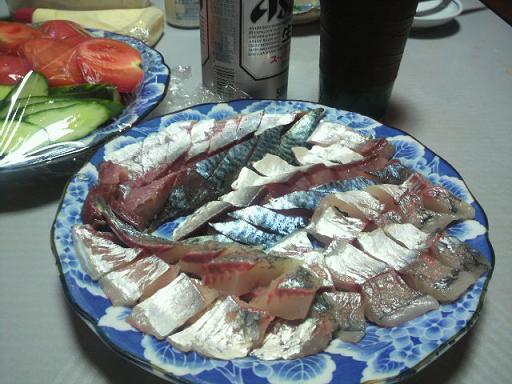 鯵と鯖刺身80