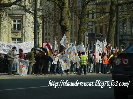 反戦デモ ベルギー
