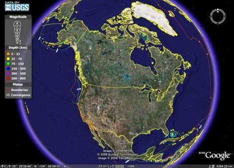 世界地震地図