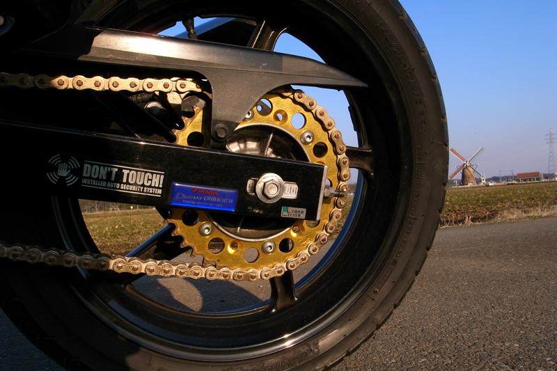 ホンダバイクVTR250チェーン前後スプロケ同時交換