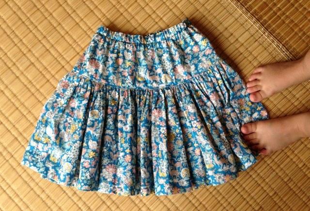 子どもギャザースカート