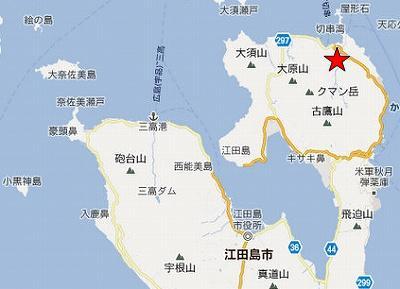 江田島地図2分割北(方状節理)