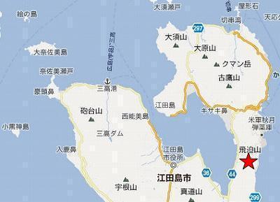 江田島地図2分割北(秋月林道)