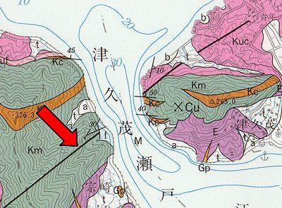 津久茂地質図(断層)