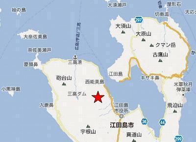 江田島地図2分割北(畑鉱山)