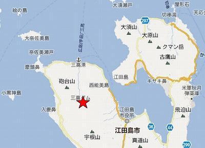 江田島地図2分割北(三高ダム)